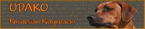 UDAKO Rhodesian Ridgeback Kennel